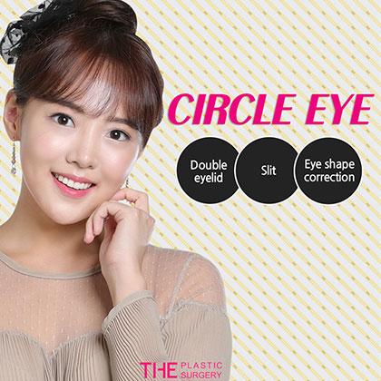 Circle eye double eyelid surgery
