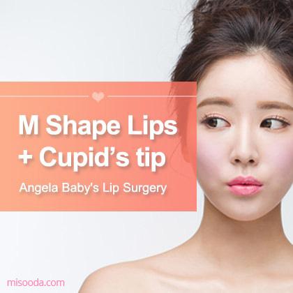 Môi hình M + Cupid's tip