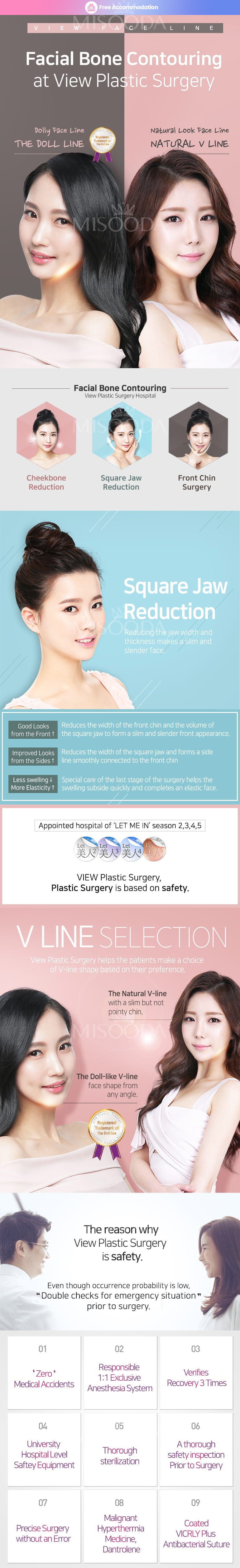 View Plastic Surgery : Square Jaw Reduction
