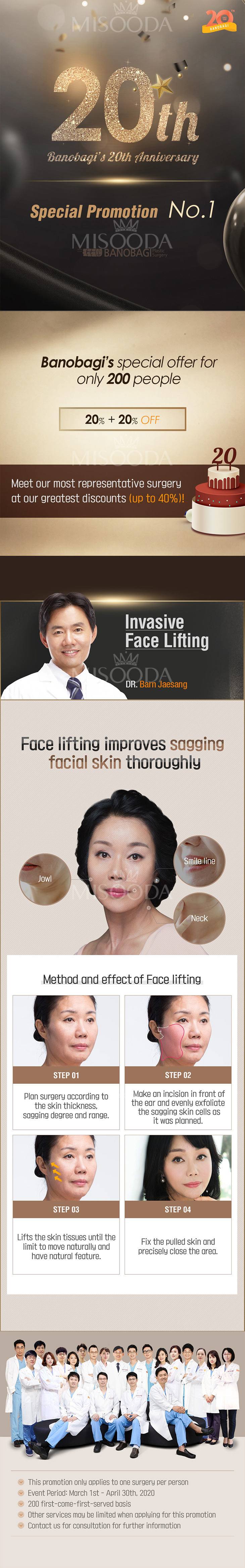 Invasive Face Lifting